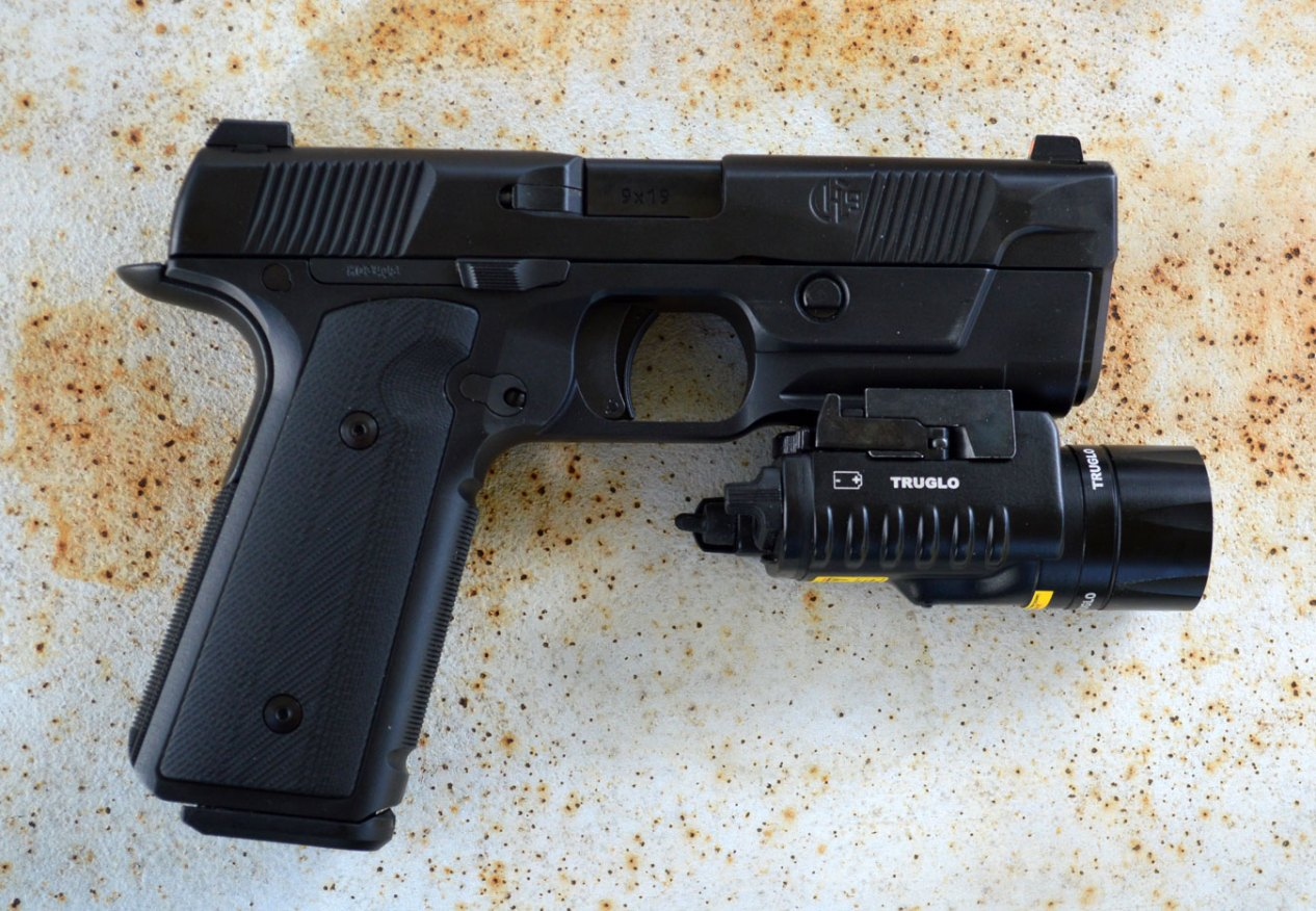 Hudson H9 9mm pistol with TruGlo combat light/Laser