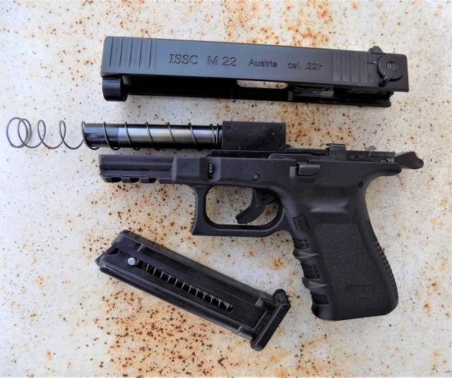 Field Stripped ISSC M22 pistol