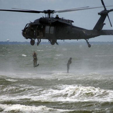 MH-60 Helocast by U.S. Navy photo by Mass Communication Specialist Seaman Matt Daniels
