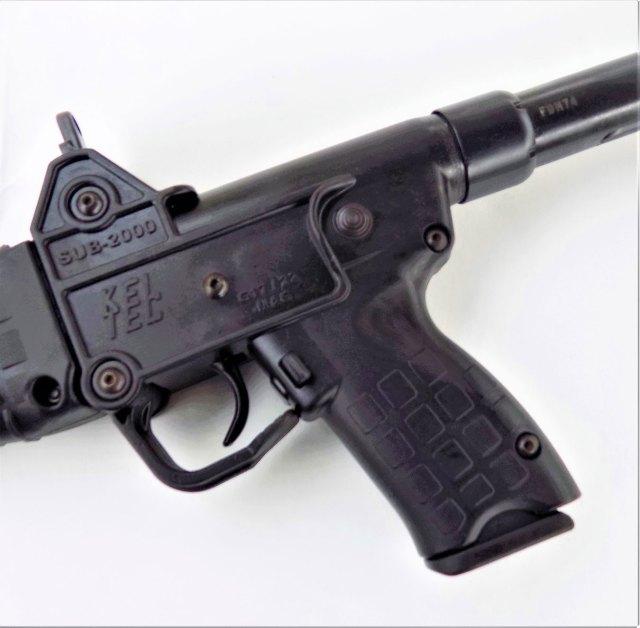 pebble grained pistol grip