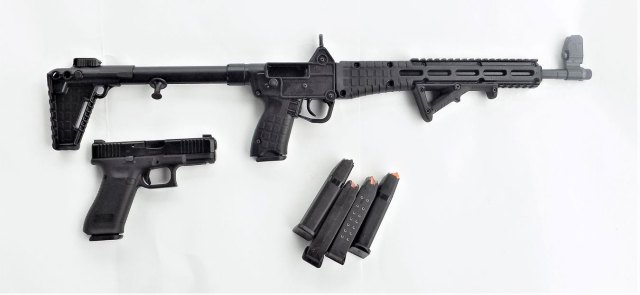 Kel-Tec Sub 2000 with several Glock 17 magazines