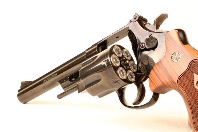 Smith and Wesson Model 29 .44 Magnum with loaded cylinder open