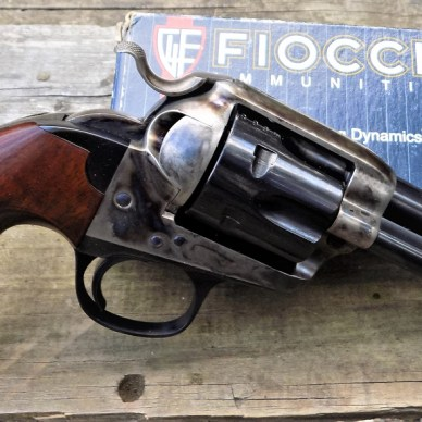 Uberti Bisley right profile with Fiocchi ammunition