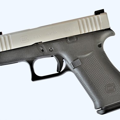 Glock 43X handgun left profile
