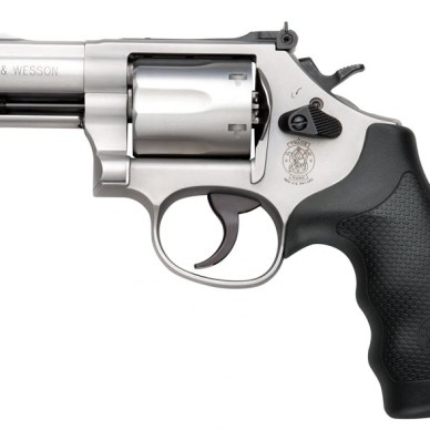 Smith and Wesson Combat Magnum with rubber grips in .357 Magnum