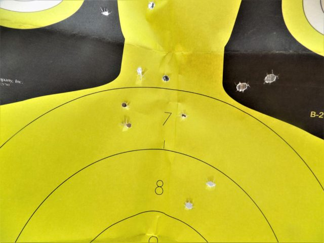 Shot pattern from 10 yards in to the target
