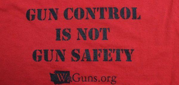 washingtonguns.org gun control red t-shirt
