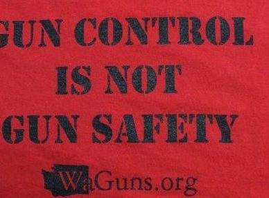 washingtonguns.org gun control red t-shirt