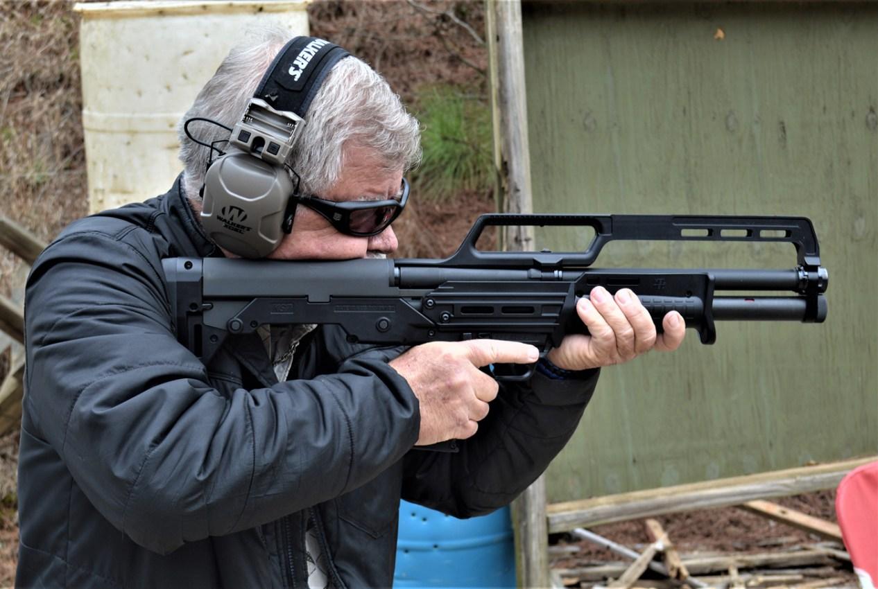 Bob Campbell shooting the Kel-Tec K7 shotgun