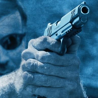 Officer firing a 1911 pistol