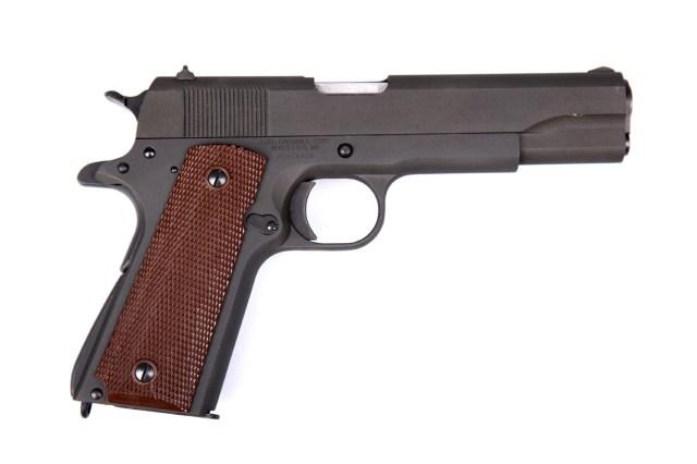 Auto-Ordnance 1911 .45 pistol right profile