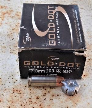 Speer Gold Dot ammunition box