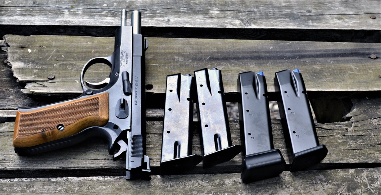 CZ 75 pistol with two original magazines and two Mec-Gar magazines