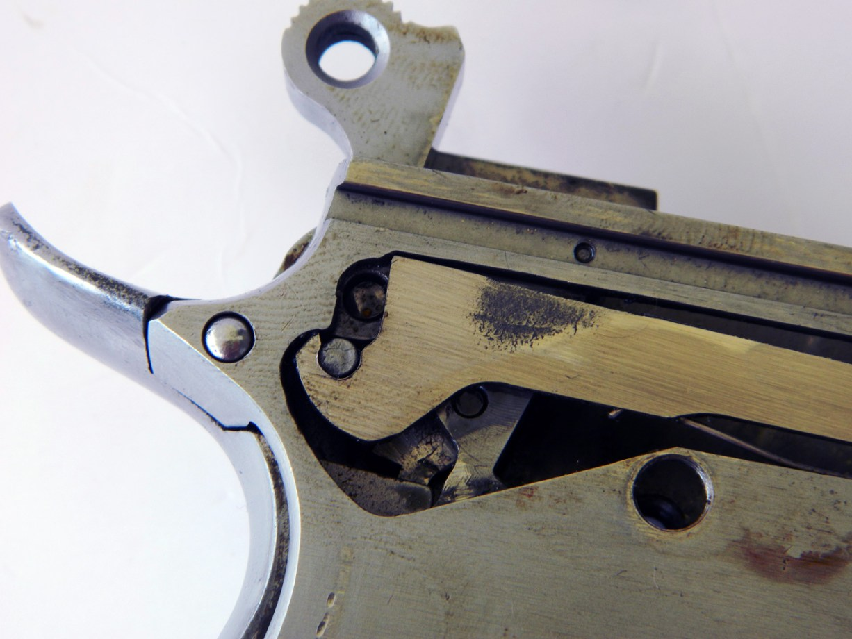 Drawbar to hammer hook fit on a Seecamp pistol