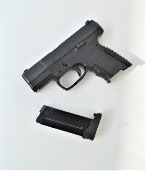 Walther PPS pistol with the magazine removed