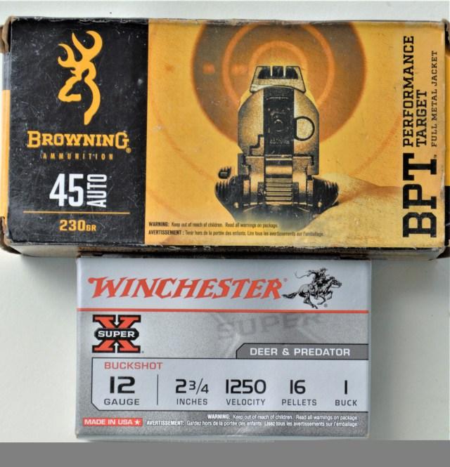 Home defense ammunition options