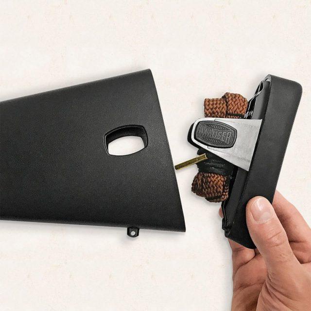 Mauser stock storage compartment
