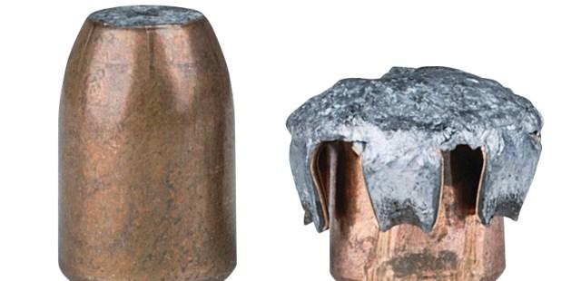 expanded Speer 10mm bullet