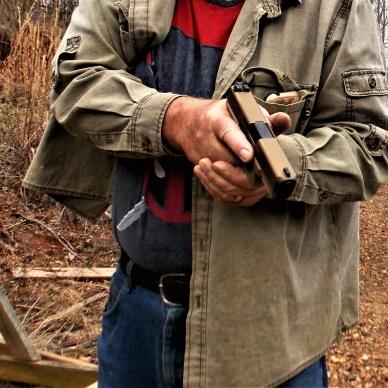 getting hits - handgun weight