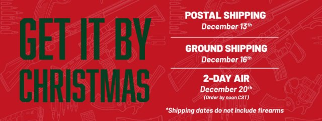 firearm shipping - christmas cutoffs