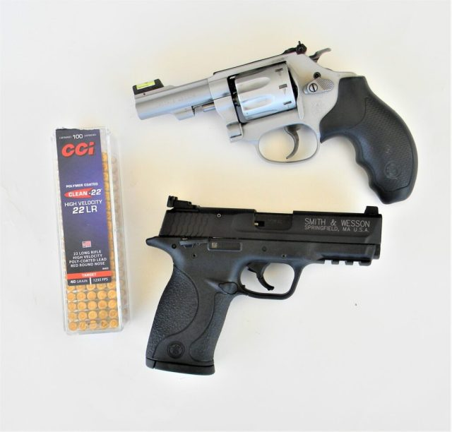 Smith and Wesson .22 LR Revolver and Pistol
