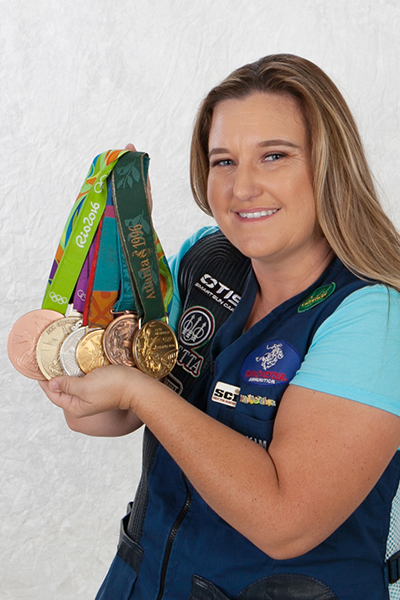 Kim Rhode with Medals