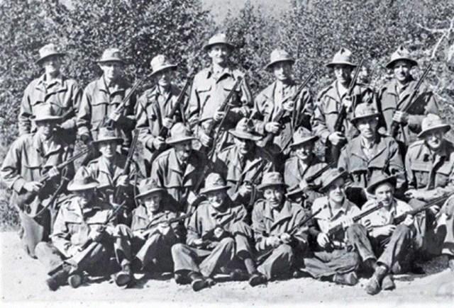 World War Two Canada Rangers Winchester .30-30 rifles.