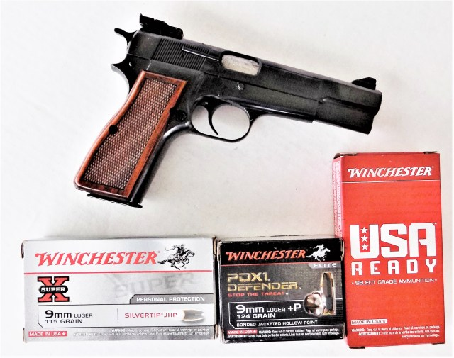 Browning Hi Power 9mm Luger Handgun with Ammo - Older Shooters