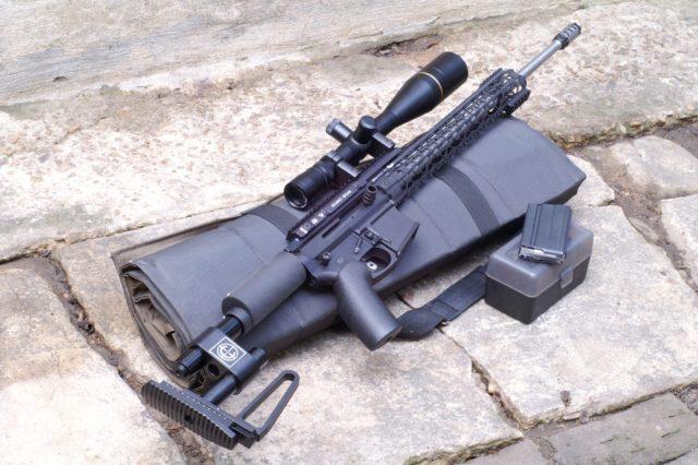 Lomg-Range Rifle with Scope