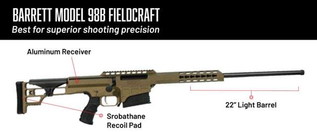 6.5 creedmoor rifles - barrett model 98b