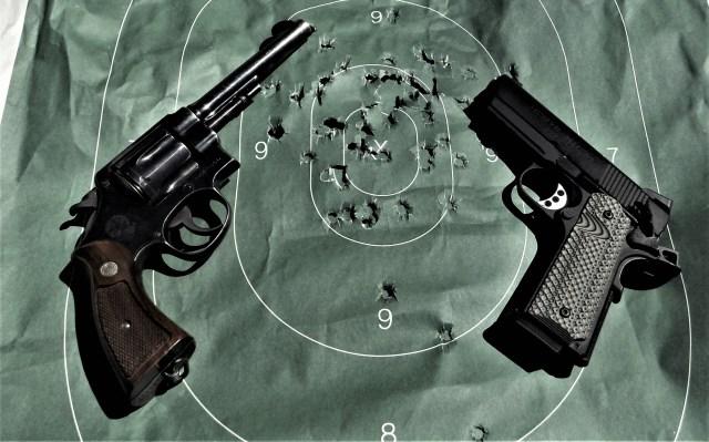 Revolver and 1911 .45 ACP Handguns