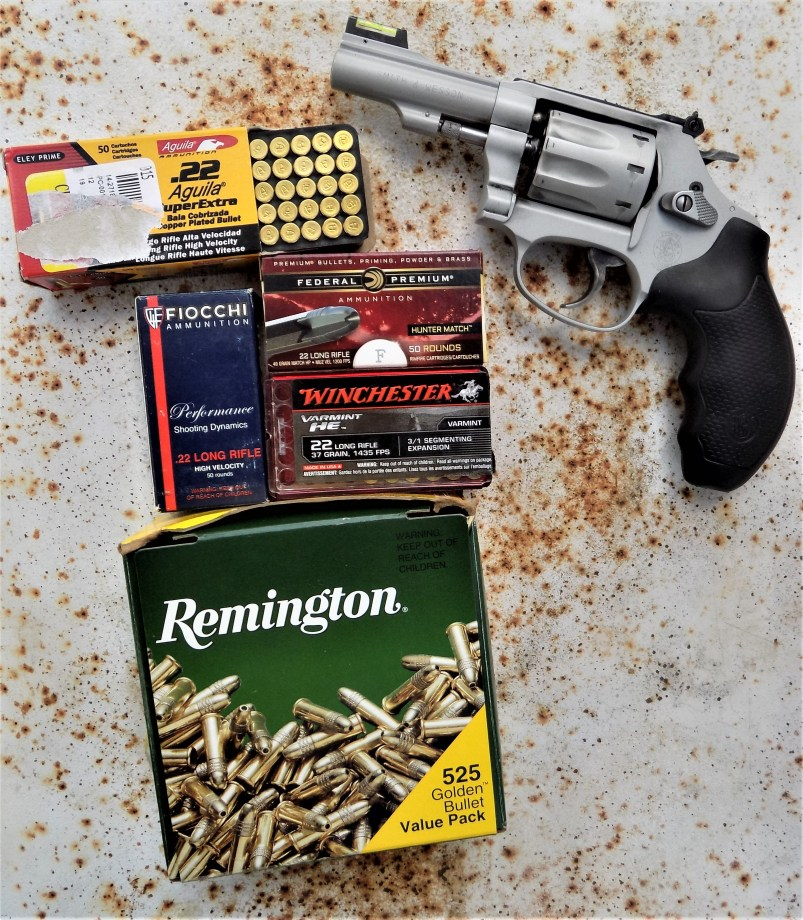 .22 Long Rifle loads and revolver
