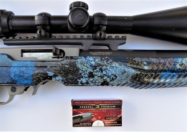 Federal Premium Hunter Match .22 Long Rifle Ammo and rifle