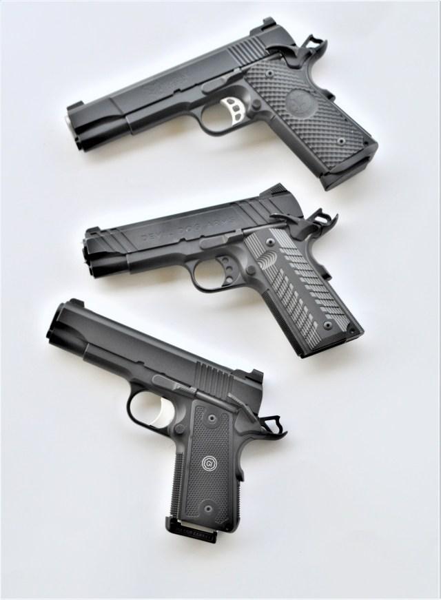 Three 1911 pistols