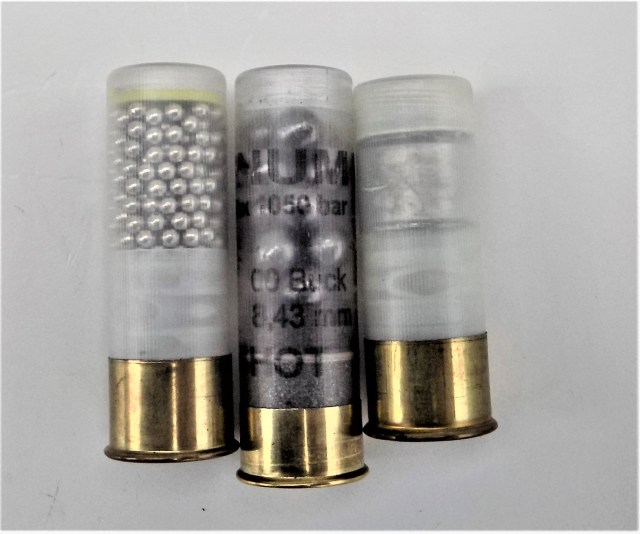 three 12-gauge loads