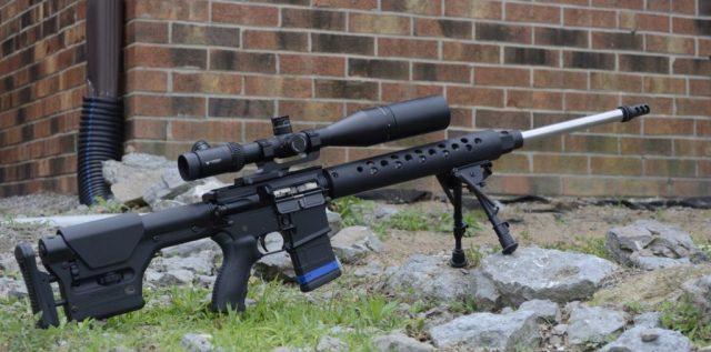 Precision AR Rifle with Bipod