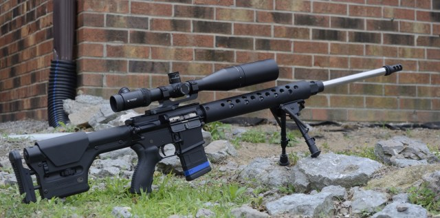 Precision AR Rifle with Bipod
