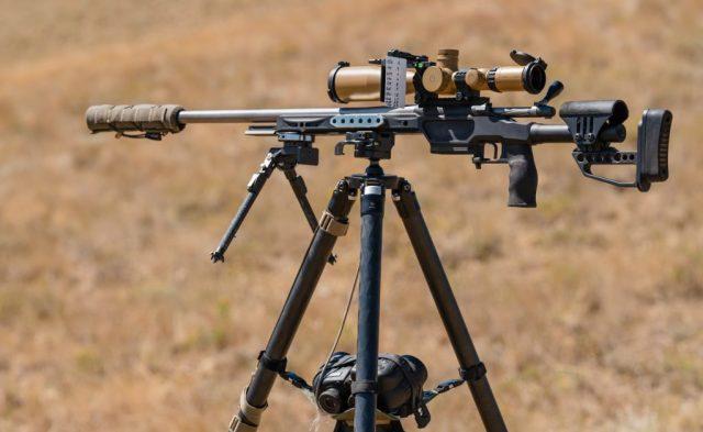 Precision Rifle on Tripod