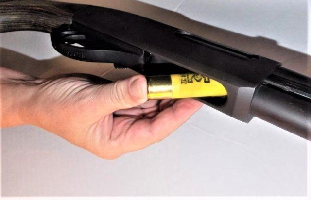 Loading pump-action shotgun