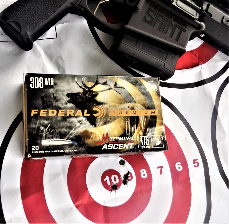 Federal Ammunition and AR-15 Rifle on Target