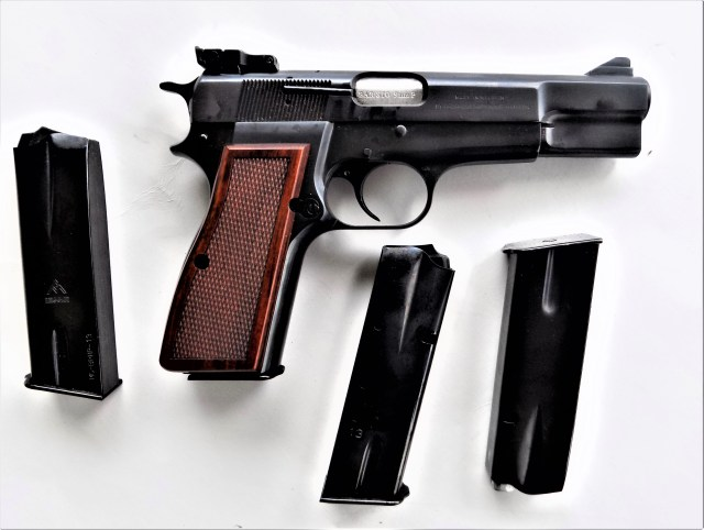 Browning Hi-Power and Spare Mags