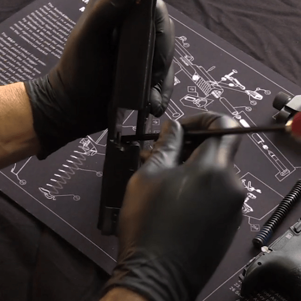 Disassembly of Smith and Wesson M&P handgun