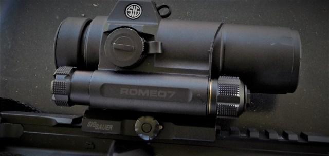 SIG ROMEO7 On AR-15 Rifle - Optic