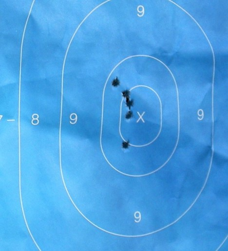 Target with .45 ACP holes