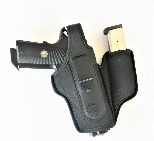 holster with handgun and magazine