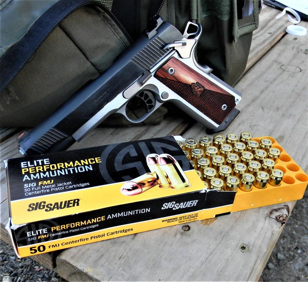 Springfield Ronin 1911 and SIG Sauer ammo .45 ACP Loads