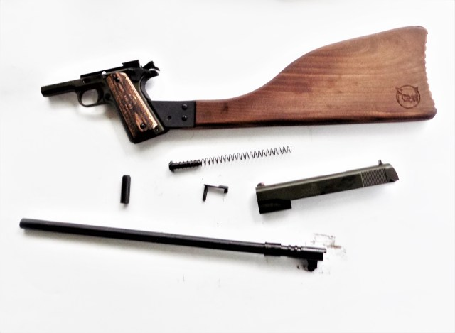 Iver Johnson 1911A1 Carbine Disassembled