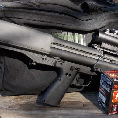 Kel-Tec KSG Bullpup shotguns with ammo