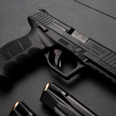 SAR 9 Pistol and Magazines
