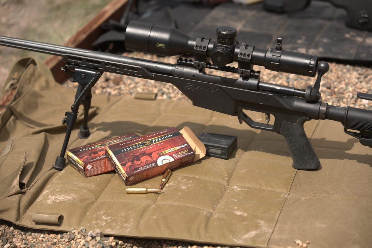 Savage Stealth Chassis Rifle on Shooting Pad